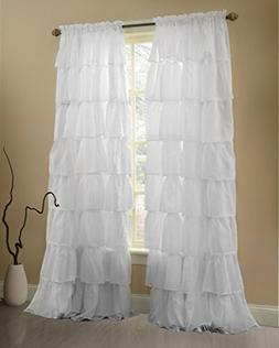 Gee Di Moda White Ruffle Curtains Gypsy Lace Curtains for Be