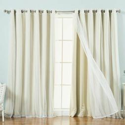 Best Home Fashion Wide Tulle and Blackout Mix and Match Curt