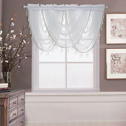 Window Valance Sheer Curtain Tiers Balloon Shades for Window
