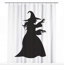 Witch Shower Curtain - Halloween Decoration - Creepy Witch S