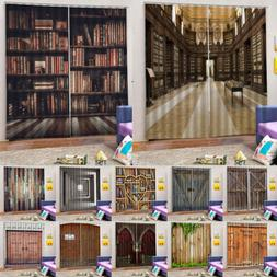 Wood Door Effect Curtains Drapes for Living Room Kids Room 2