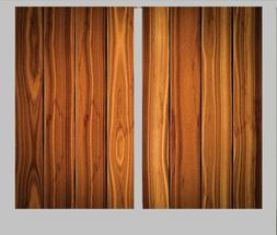 Ambesonne WOODEN PLANK BOARD  Curtains Set 2 Panels Window D